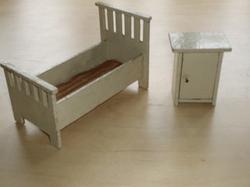 1/12 Bed & Bedside Cabinet