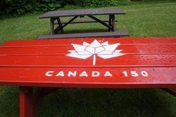 Canada 150 Picnic Table