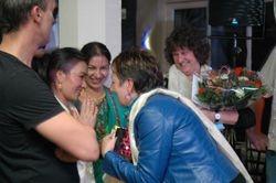 Huldiging Lila en Bishnu
