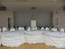 wedding headtable decoration