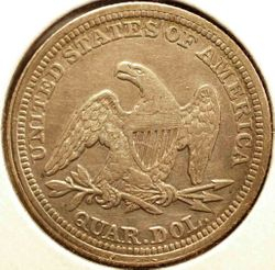 1857 Seated Quarter Reverse