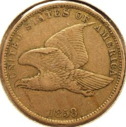 1858 Flying Eagle Cent Obverse