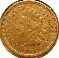 1860 Indian Head Cent Obversse