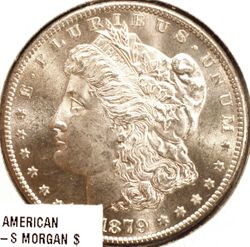 1879-S Morgan Silver Dollar Obverse