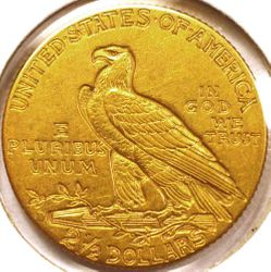 1914-D Gold Quarter Eagle Reverse