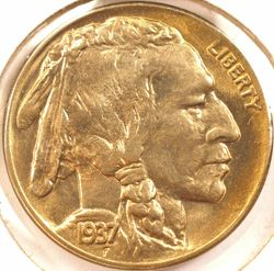 1937-D Buffalo Nickel BU