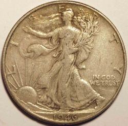 1946 Walking Liberty Half Dollar DDR Obverse