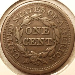 1845 Large Cent EF Reverse