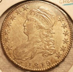 1819 Bust Half Dollar Choice EF