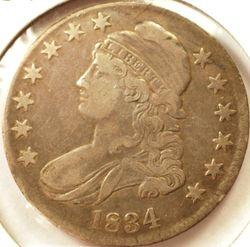 1834 Capped Bust Half Dollar Obverse