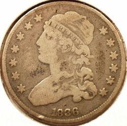 1836 Bust Quarter Obverse