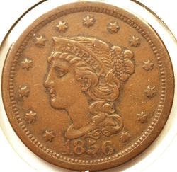 1856 Large Cent Obverse