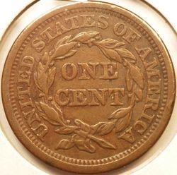 1856 Large Cent Reverse