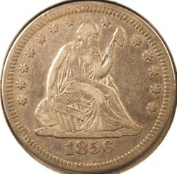 1856 Seated Liberty Quarter, XF Obverse