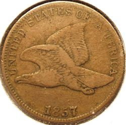 1857 Flying Eagle Cent Obverse