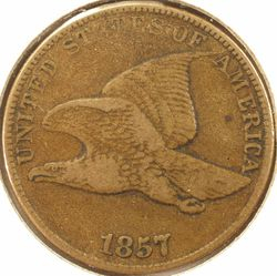 1857 Flying Eagle Cent VF (Obverse)