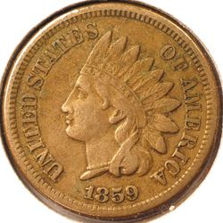 1859 Indian Head Cent Obverse