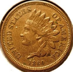 1860 Indian Head Cent Obverse