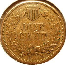 1860 Indian Head Cent Reverse
