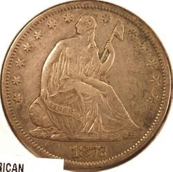 1872-S Seated Half Dollar VF (Obverse)