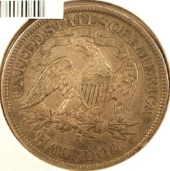 1872-S Seated Half Dollar VF (Reverse)