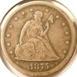 1875-S 20-Cent Piece Obverse