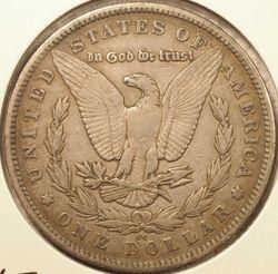 1880-CC Morgan Dollar XF-40 (reverse)