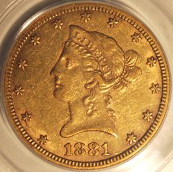 1881-CC Eagle Obverse