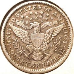 1897 Barber Quarter Reverse