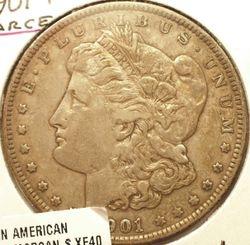 1901-P Morgan Silver Dollar Obverse