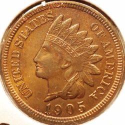 1905 Indian Head Cent Obverse