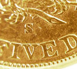 1905-S/S Half Eagle:  Mintmark Photo