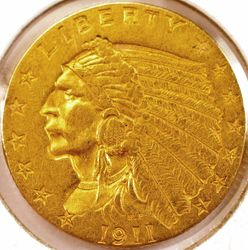 1911 Gold Quarter Eagle AU (Obverse)