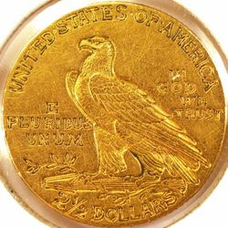 1911 Gold Quarter Eagle AU (Reverse)