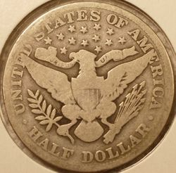 1913 Barber Half Dollar Good (reverse)