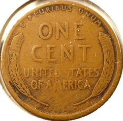 1914-D Lincoln Cent, Very Good Reverse