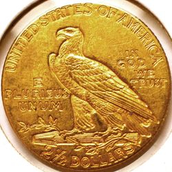 1915 Gold Indian Quarter Eagle Reverse