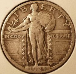 1924 Standing Liberty Quarter Obverse