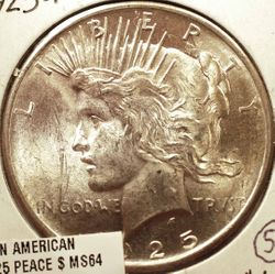1925 Peace Dollar Obverse