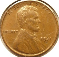 1931-S Lincoln Cent Obverse