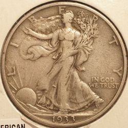 1933-S Walking Liberty Half Dollar EF