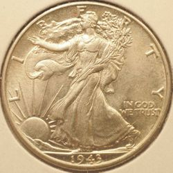 1943 Walking Liberty Half Dollar Obverse