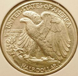 1943 Walking Liberty Half Dollar Reverse
