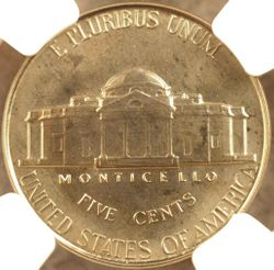 1950 Nickel Proof-67 NGC (reverse)