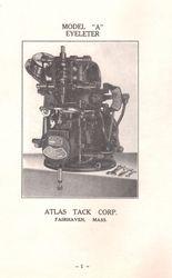 MODEL 'A' Eyeleting Machine.