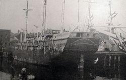 Old Whaler New Bedford Pier c1896