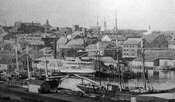 Steamship Pier New Bedford c1898