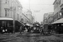 Downtown New Bedford, MA Purchase and Union Sts. c1902