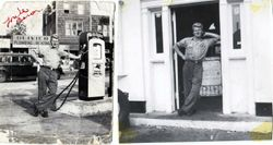 The Mobil Gas Station on Acushnet Ave. 1950