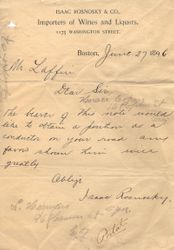 1896 Letter of Recommendation